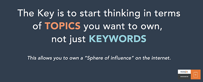 For SEO, think in terms of topics, not just keywords.